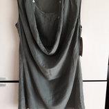 Шелковое летнее пляжное платье накидка парео туника