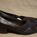 Элегантные коричневые кожаные туфли-лодочки Orthopedic Traditional comfort Англия 38 р.