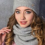 Комплет шапка и шарф хомут 10 расцветок