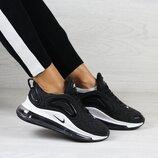 Кроссовки женские Nike Air Max 720 черные с белым