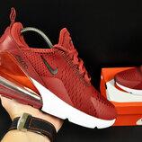 кроссовки Nike Air Max 270 арт 20630 женские, бордовые, найк