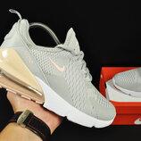 кроссовки Nike Air Max 270 арт 20629 женские, серые, найк
