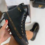 Женские кожаные высокие кеды Louis Vuitton
