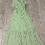 Длинное платье в пол красивый цвет и фасон свободный размер м-л