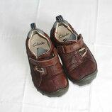 Туфли мокасины на девочку оригинал Clarks 15см 6,5F
