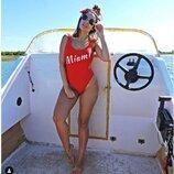 Яркий шикарный сдельный красный купальник Miami