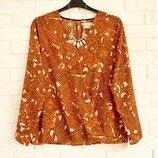Красивая блуза из плотного шифона на запах UK18 в идеальном состоянии