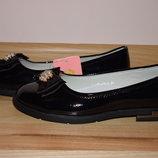 Шкільні туфлі балетки на дівчинку Tom.m 5748-А р.32-37 туфли, балетки школьные на сменку