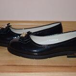 Шкільні туфлі балетки на дівчинку Tom.m 5748-В р.32-37 туфли, балетки школьные на сменку