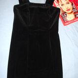 школьное платье сарафан черный платье в школу размер 42 / 8 на 12-13-14-15 лет офисное для форма