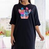 Плаття 880497, розміри 44 -54 ,56- 60 ,чорного кольору.