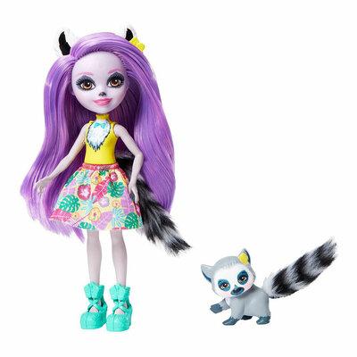 Enchantimals лемур Лариса Лемури и Ринглет GFN44 Larissa Lemur Ringlet Dolls