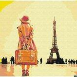 Картина по номерам Брашми. Brushme Путешественница в Париже GX30474