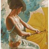 Картина по номерам Брашми. Brushme Мисс с зонтом GX22337