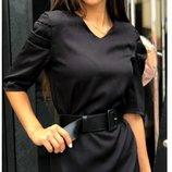 Платье стильное белое черное платье