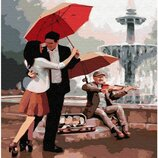 Картина по номерам Брашми. Brushme Любовь у фонтана GX30472