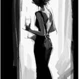 Картина по номерам Брашми. Brushme Леди в черном GX3165