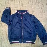 Куртка ветровка двухсторонняя на мальчика ZARA 3-4 г 104 см