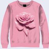 Женский 3D свитшот Pink rose Огромный выбор