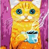 Картина по номерам Брашми. Brushme Голубоглазый кот GX30323