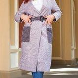 Пальто букле,пальтовая 50-52,54-56