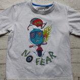 Новая футболка No Fear p. 5-6 лет, оригинал из Англии