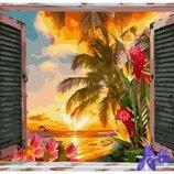 Картина по номерам Брашми. Brushme Вид из окна на океан Мексики GX25623