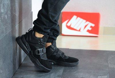 Кроссовки мужские Nike Air Force 270 черные замш