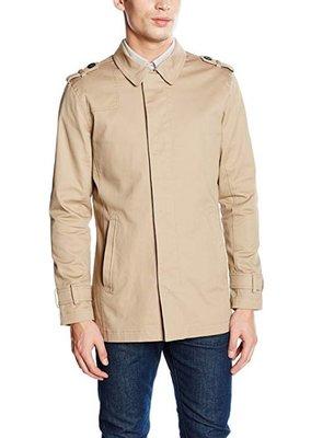 Мужской коттоновый бежевый плащ тренч куртка на молнии casual friday by blend этикетка
