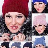 Женская шапка на флисе с ушками. Теплая шапка. Шапки на флисе. Молодіжна тепла шапка