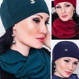 Комплект шапка и шарф-хомут, Набор шапка и хомут