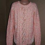 Оригинальный свитер george на 9-10 лет, легкая вязка с декором внизу