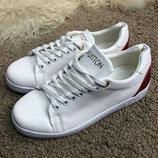 Кеды женские Louis Vuitton Frontrow White/Red белые