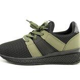 Кроссовки для мальчика Турция Черные-Хаки Размеры 31, 32, 33, 34, 35