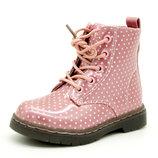 Демисезонные ботинки для девочки Розовые Размеры 23, 24, 25, 26, 27, 28