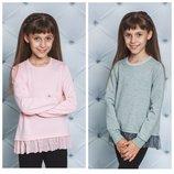 Модная кофточка- реглан для девочки с баской 122-152 фото 6 Модная кофточка- реглан для девочки с