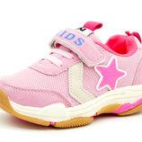 Кроссовки для девочки Розовые Размеры 25, 26, 27, 28, 29, 30