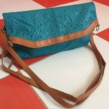 Очень шикарная кожаная сумка Genuine Leather /кроссбоди/кожа