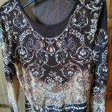 Блуза LUISA CERANO, эксклюзив расшита натуральными камнями