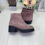 Натуральные кожаные женские демисезонные ботинки Супер цена