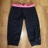 Nike Новые спортивные штаны, лосины, капри, бриджи Найк, р L-XL 16-18 , сделаны в Индонезии Пот 44,
