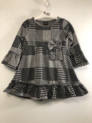 Теплое платье с бантиком от 1 до 6 лет