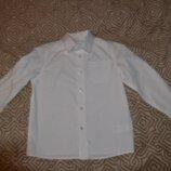 Новая белая рубашка F&F 5 лет рост 110 Англия