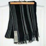 Классический мужской полосатый шарф