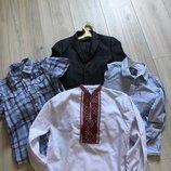 Школьная форма с вышиванкой и рубашками logg, benetton , бесплатная доставка