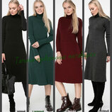 44-48 Вязаное платье, плиссе, теплое платье. женское платье. вязаное платье. Жіноча сукня