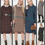 44-50 Вязаное платье, плиссе, теплое платье. женское платье. вязаное платье. Жіноча сукня