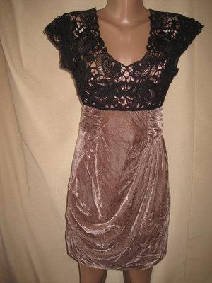 Интересное платье с кружевом Asos р-р8