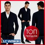 Мужская кофта lc waikiki / лс вайкики деловая, на молнии, с карманами