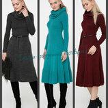 44-48 Вязаное платье клеш, теплое платье. женское платье. вязаное платье. Жіноча сукня